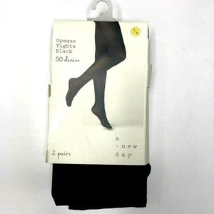 NWT Women's 2pk 50D Opaque Tights A New Day (P552)